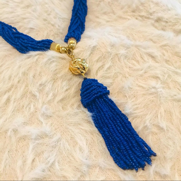 LILLY PULITZER   statement necklace   Blue